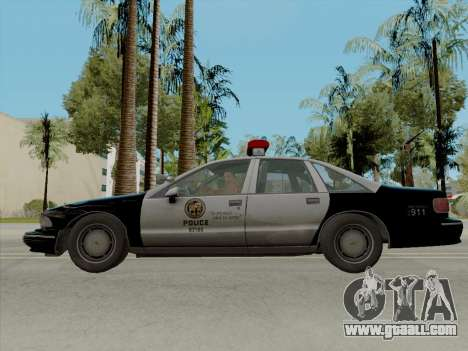 Chevrolet Caprice LAPD 1991 [V2] for GTA San Andreas left view