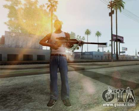 Sniper rifle in Call of Duty MW2 for GTA San Andreas second screenshot