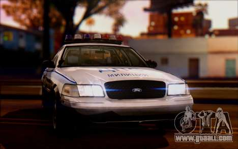 Ford Crown Victoria STR for GTA San Andreas back left view