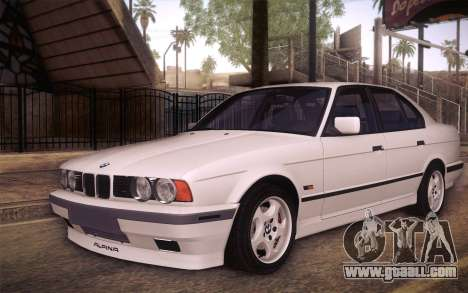 BMW E34 Alpina for GTA San Andreas side view