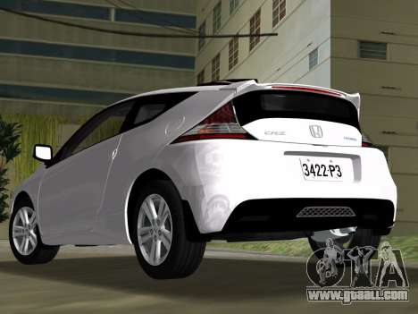 Honda CR-Z 2010 for GTA Vice City inner view