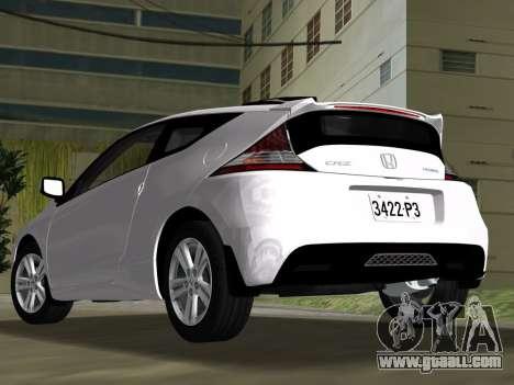 Honda CR-Z 2010 for GTA Vice City inner view