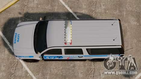 GTA V Declasse Police Ranger 3500PE [ELS] for GTA 4 right view