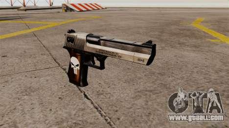 Desert Eagle semi-automatic pistol Punisher for GTA 4
