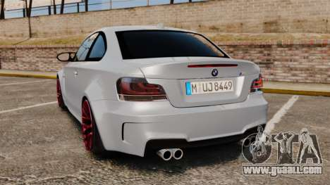 BMW 1 M 2011 for GTA 4 back left view