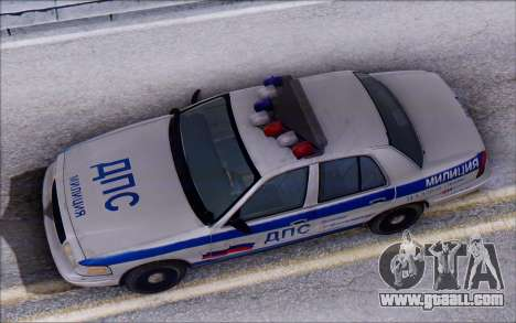Ford Crown Victoria STR for GTA San Andreas back view