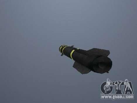 The new missile for GTA San Andreas third screenshot