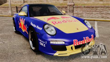 Porsche 911 Sport Classic 2010 Red Bull for GTA 4