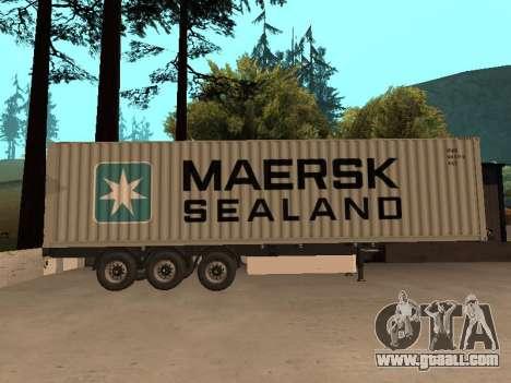 Trailer MAERSK for GTA San Andreas