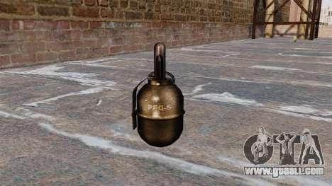 Hand grenade RGD-5 v2.0 for GTA 4