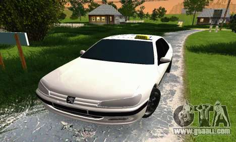 Peugeot 406 Taxi for GTA San Andreas left view