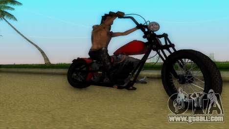 Harley Davidson Shovelhead for GTA Vice City inner view