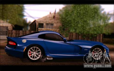 SRT Viper Autovista for GTA San Andreas inner view