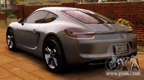 Porsche Cayman 981 S v2.0 for GTA 4 back view