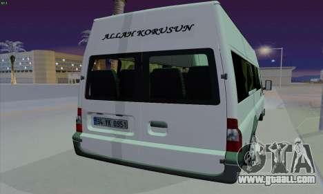 Ford Transit Jumgo for GTA San Andreas back view