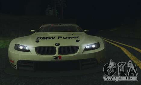 BMW M3 GT2 E92 ALMS for GTA San Andreas side view