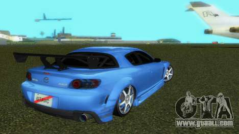 Mazda RX8 Type 1 for GTA Vice City upper view