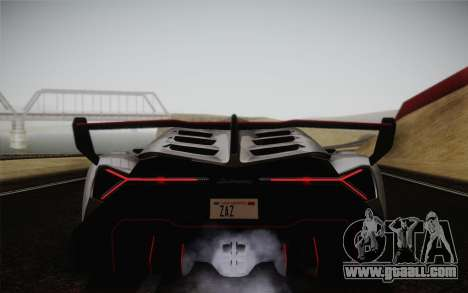 Lamborghini Veneno LP750-4 2013 for GTA San Andreas back view