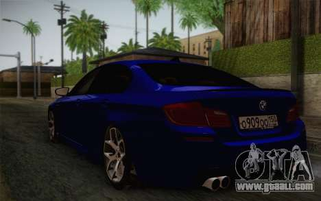 BMW M5 F10 v2 for GTA San Andreas left view