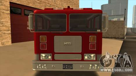 Firetruck HD from GTA 3 for GTA San Andreas back left view