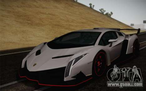 Lamborghini Veneno LP750-4 2013 for GTA San Andreas back left view