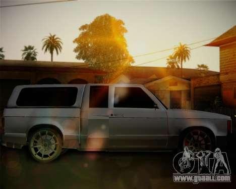 Isuzu KB for GTA San Andreas left view