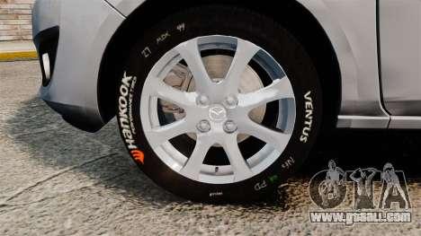 Mazda 2 for GTA 4 back view