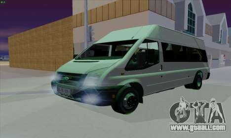 Ford Transit Jumgo for GTA San Andreas upper view