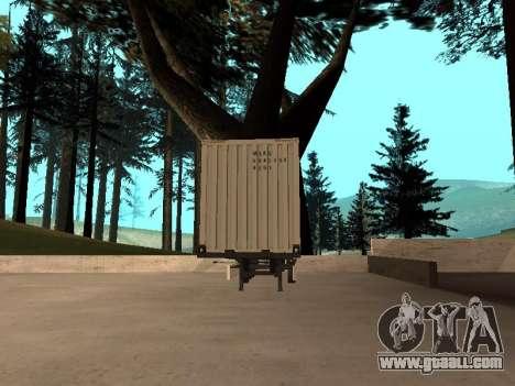 Trailer MAERSK for GTA San Andreas back left view