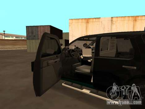 GMC Yukon ATTF for GTA San Andreas upper view