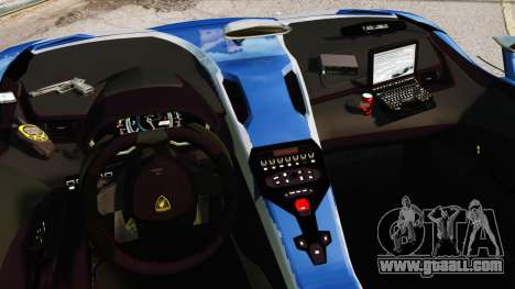Lamborghini Aventador J Police for GTA 4 inner view