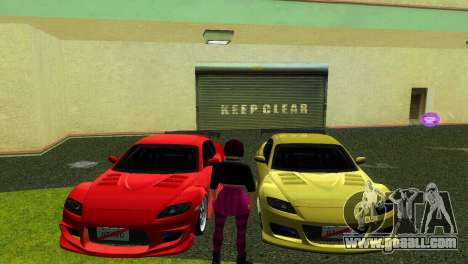 Mazda RX8 Type 1 for GTA Vice City right view