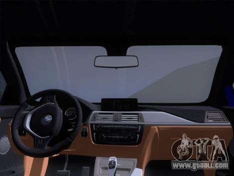BMW F32 4 series Coupe 2014 for GTA San Andreas upper view