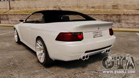 GTA V Zion XS Cabrio [Update] for GTA 4 back left view