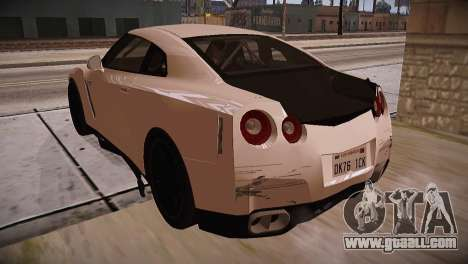 Nissan GT-R SpecV Ultimate Edition for GTA San Andreas back view