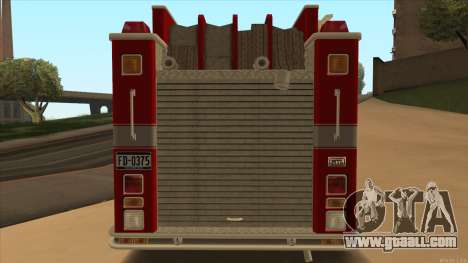 Firetruck HD from GTA 3 for GTA San Andreas right view