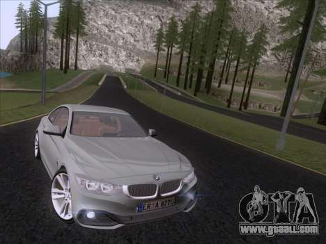 BMW F32 4 series Coupe 2014 for GTA San Andreas