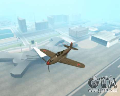 Aircobra P-39N for GTA San Andreas back view