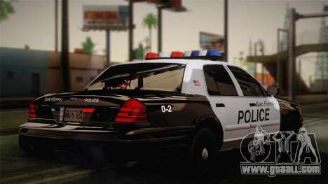 Ford Crown Victoria 2005 Police for GTA San Andreas back left view