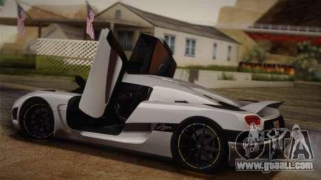 Koenigsegg Agera for GTA San Andreas back view