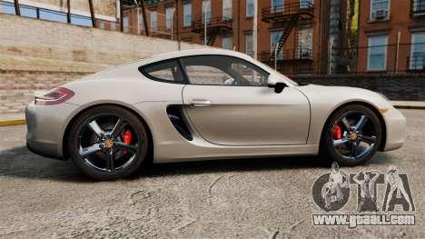Porsche Cayman S 981C for GTA 4 left view