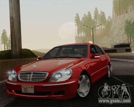 Mercedes-Benz S600 Biturbo 2003 for GTA San Andreas back view