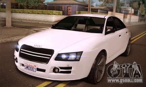 GTA V Tailgater for GTA San Andreas