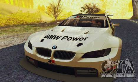 BMW M3 GT2 E92 ALMS for GTA San Andreas back view