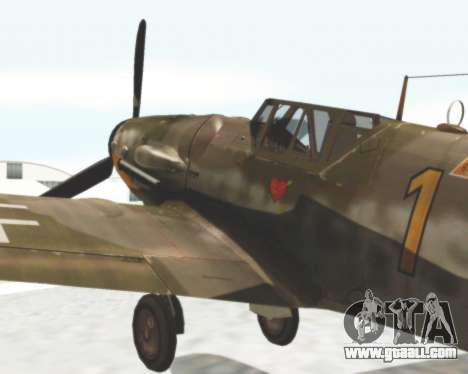 Bf-109 G6 for GTA San Andreas back left view