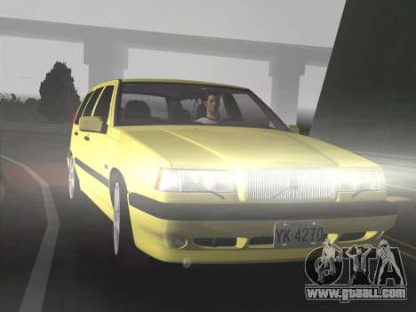 Volvo 850 R Estate for GTA Vice City back left view