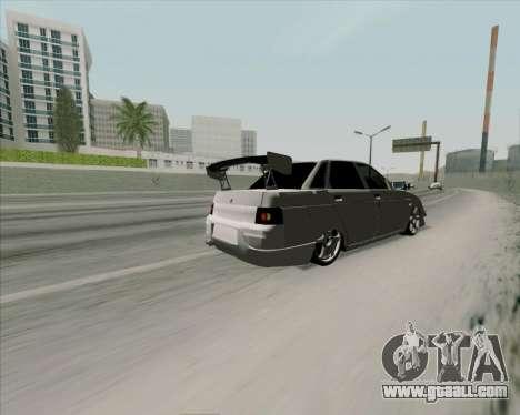 VAZ 2110 v2 for GTA San Andreas inner view
