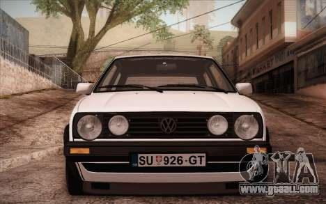 Volkswagen Golf Mk2 GTI for GTA San Andreas back left view