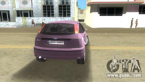 Ford Focus SVT for GTA Vice City back left view