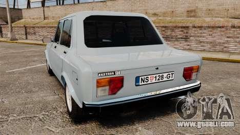 Zastava 128 for GTA 4 back left view